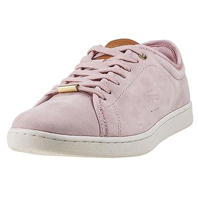 7de490aeedd4e Lacoste Carnaby Evo 417 Womens Trainers Light Pink - 3 UK  Amazon.co ...