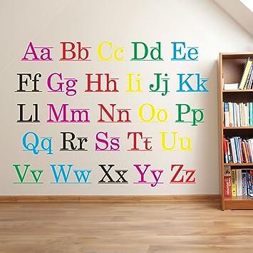 Wandaufkleber Alphabet Buchstaben Kinder Kinderzimmer