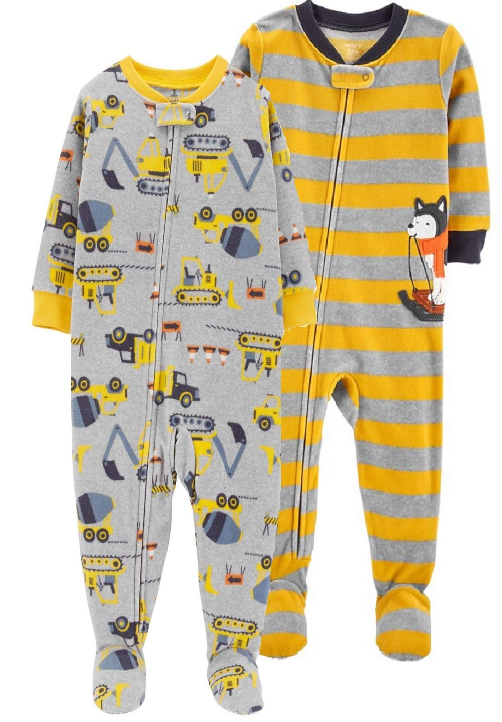 Carter's Baby Boys' 2-Pack Fleece Pajamas (Comfy Cozy, 18 Months) by Carter's