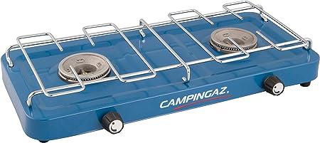 Campingaz Base Camp - Hornillo de camping compacto con 2 placas de cocina de gas de 2 fuegos con potencia de 2 x 1600 W para camping o festivales