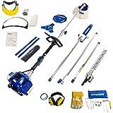 Hyundai Petrol 51cc 2 stroke Multi Tool, Hedgetrimmer, grass trimmer Chainsaw