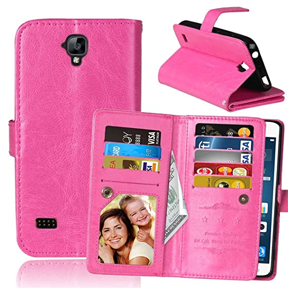 Huawei Y560 Case,Huawei Y5 Case,Gift_Source [Kickstand Feature] Premium PU  Leather Holster Folio Flip Wallet Cover Case Built-in 9 Card Slots &