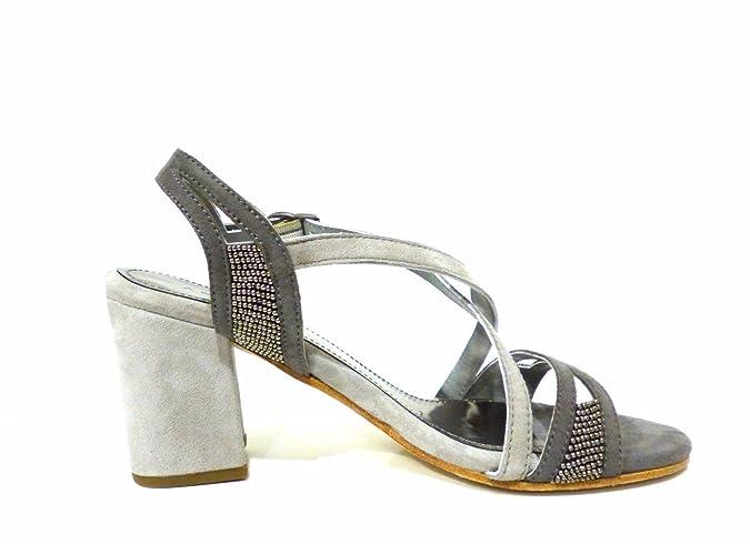 Apepazza Pal 10 Suede, Chaussures à brides femme - gris - gris, 36 EU