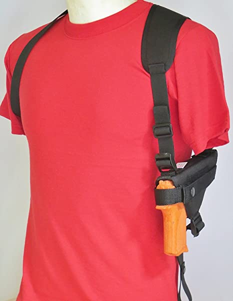 Shoulder Holster For Ruger LC9, LC9s, EC9s & LC380 Pistol with Underbarrel  Laser Mounted on Gun