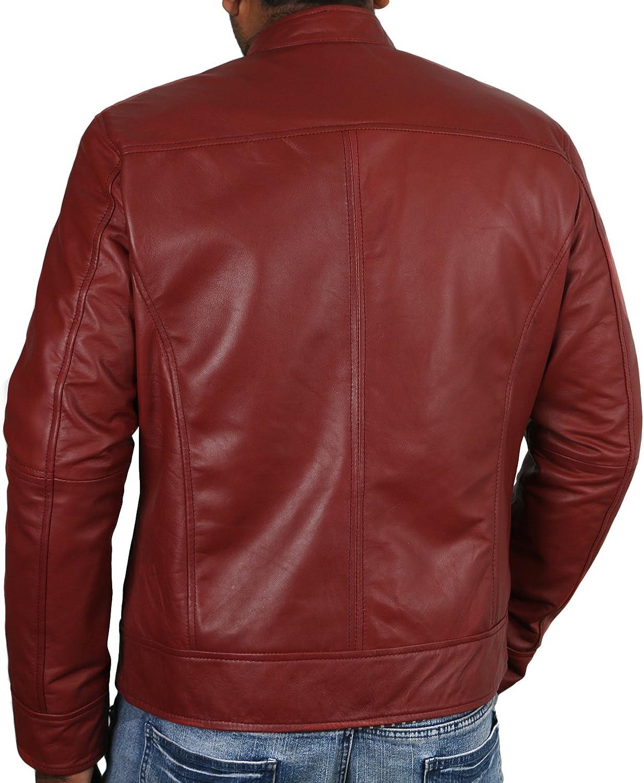 Laverapelle Mens Genuine Lambskin Leather Jacket Black, Classic Jacket 1501210