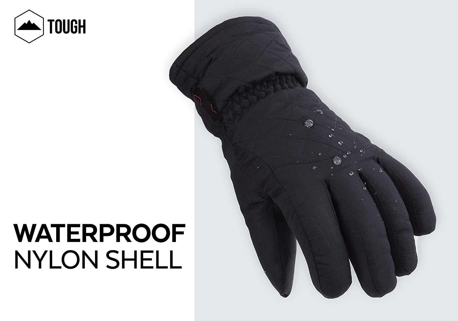 Shoveling Designed for Womens Skiing Snowboarding Waterproof Windproof Nylon Shell Thermal Insulation /& Synthetic Leather Palm Shredding Womens Winter Snow /& Ski Gloves Snowballs