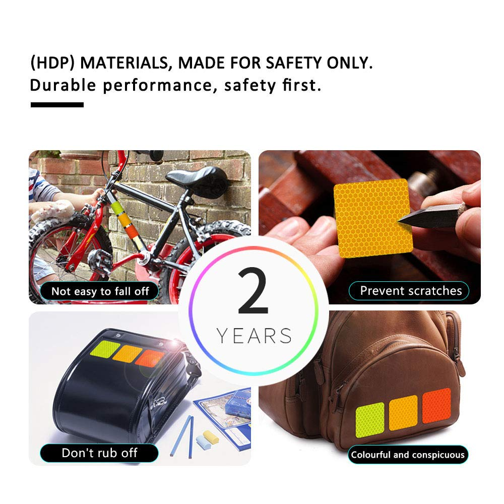 10x High Intensity Reflective Safety Warning Tapes Stickers Self-Adhesive for Car Motorbike Trailer Baby carriage Bags Raincoat Helmet Doll shape D-21 White