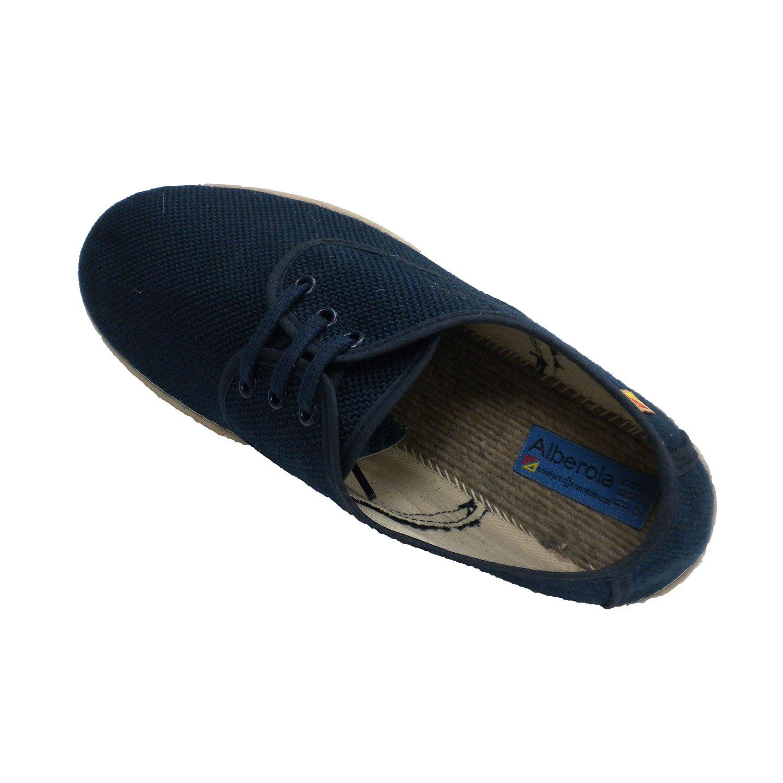 172deec15b6 ALBEROLA Chaussure Homme Lacets Chanvre Spartiate Modèle en Bleu Marine   Amazon.fr  Chaussures et Sacs