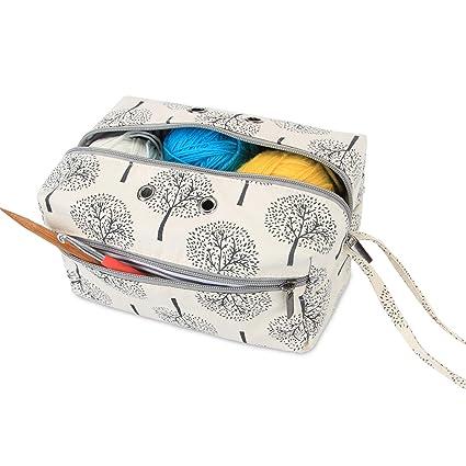 Luxja Bolsa de Almacenamiento de Lana, Bolsa de Crochet ...