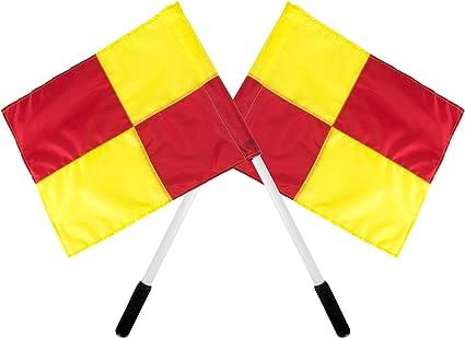 Amazon.com: Banderas para árbitro, tamaño oficial, 11.0 in ...