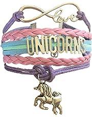 Infinity Unicorns Bracelet Gift for Girls, Unicorn Jewellery, Infinity Bracelet Unicorn Charm, Gift Boxed
