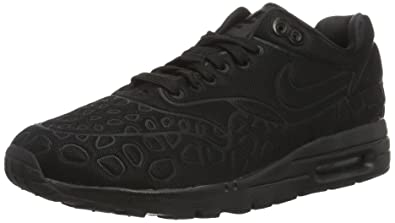 nike running shoes for girls black and white. nike w air max 1 ultra plush - running shoes, girl, color black ( shoes for girls and white