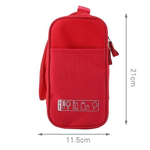 Amazon.com: Maquillaje cosmético del recorrido eDealMax neceser Lavar la caja de almacenaje del organizador bolso colgante Rojo: Health & Personal Care