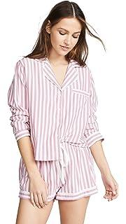 ceb50a8c99eaeb Rails Women's Long Sleeve PJ Set with Shorts at Amazon Women's ...
