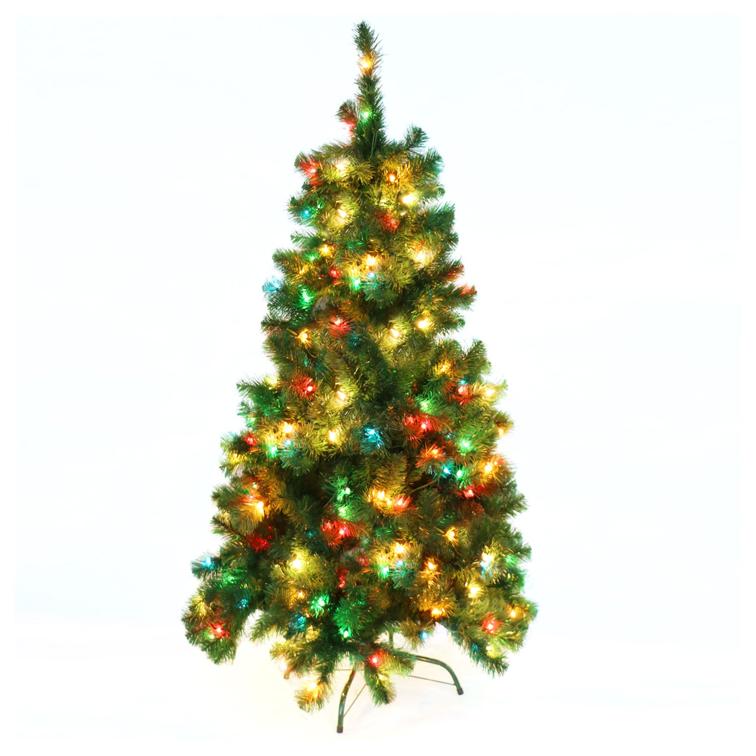 Amazoncom Casa Clausi Christmas Tree 4 Feet Pre Lit Multi Colored Lights