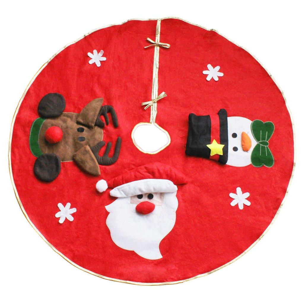 Binen 90cm Decorazioni natalizie Albero di Natale Gonna Base Cover Decorazione albero di Natale