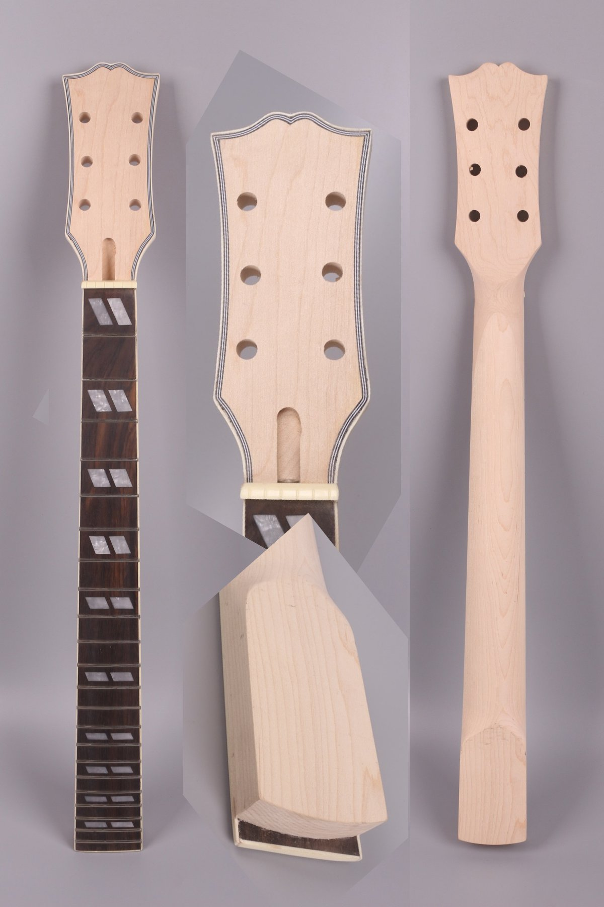 electric guitar neck 22 fret 24.75 inch Maple Rosewood Fretboard diamond Inlay Gibson Les Paul electric guitar replacement Binding Head stock