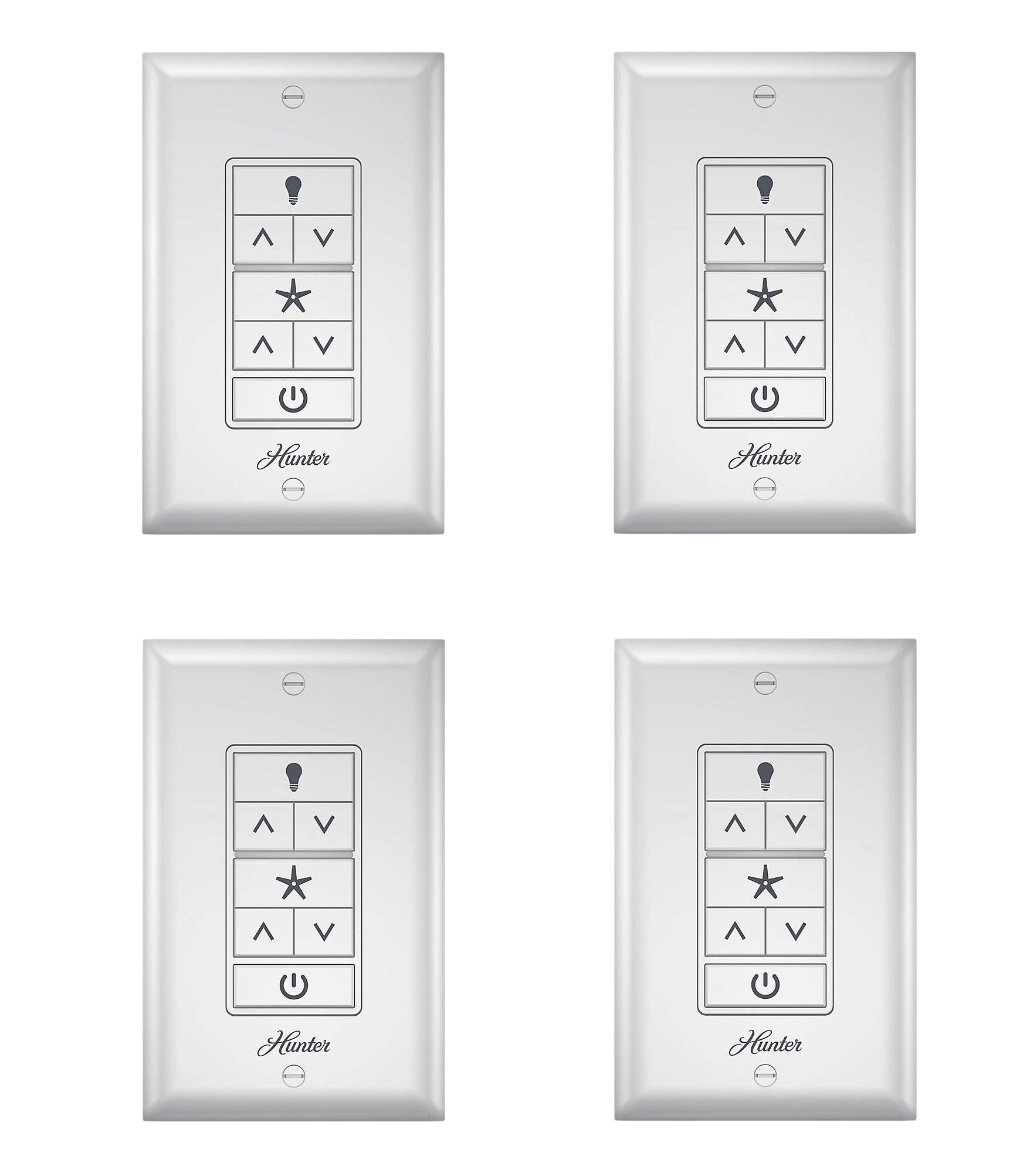 Hunter 99375 Universal Ceiling Fan Wall Control Universal Ceiling Fan Wall Controlwhite (Pack of 4)