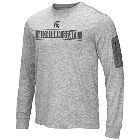 """4a0771052 Colosseum Michigan State Spartans NCAA""""Banked"""" Men's Long Sleeve  Pocket T-Shirt"""