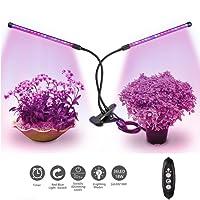 Relassy 45W Lampe pour Plante, 88 LED Lampe de Croissance Double tête LED Grow Light Spectre Complet Eclairage pour Les Plantes d'intérieur