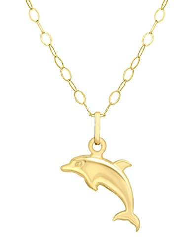 Carissima gold 9ct yellow gold dolphin pendant on curb chain carissima gold 9ct yellow gold dolphin pendant on curb chain necklace of 46cm18 aloadofball