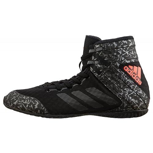 the latest 78c83 49472 adidas - Zapatillas de Boxeo de Material Sintético para Hombre Negro Negro  Amazon.es Zapatos y complementos