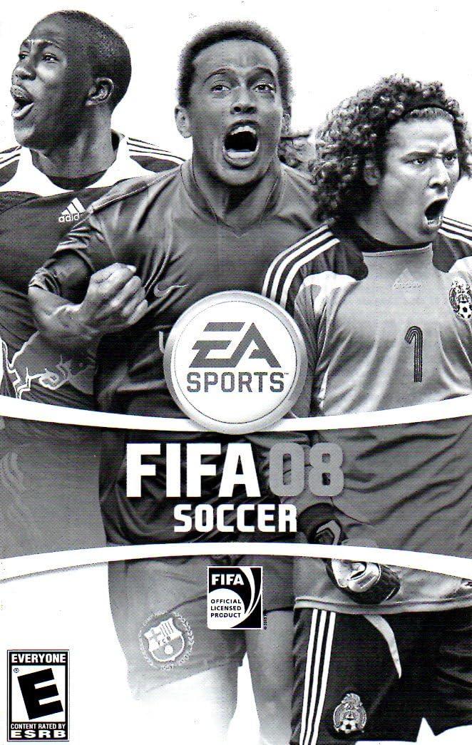 amazon com fifa 08 soccer ps2 instruction booklet playstation 2 rh amazon com FIFA 09 FIFA 13