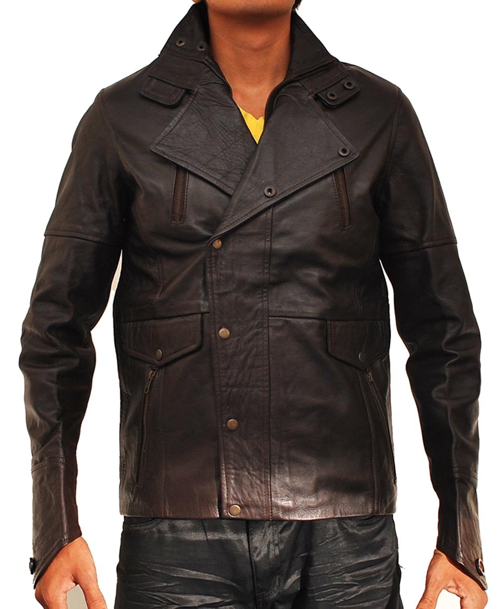 John Travolta From Paris With Love Leather Jacket by MPASSIONS (Image #1)