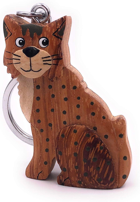 Katze Cat silber sitzend Schlüsselanhänger Anhänger aus Metall