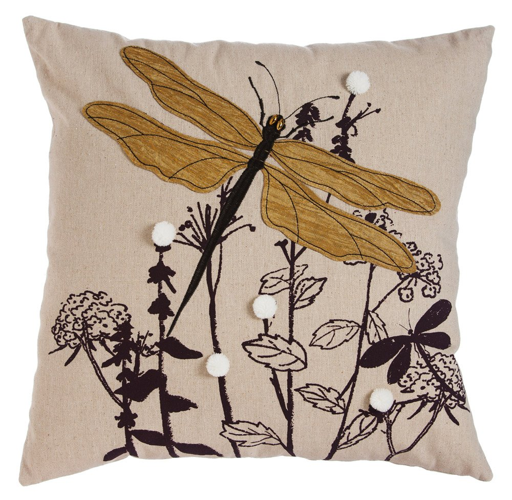 New Creative Nature's Bounty Dragonfly 18 inch Outdoor Safe Pillow