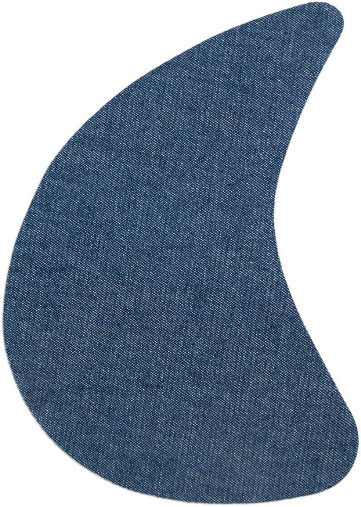Haberdashery Online 2 Entrepiernas para pantalones. Tela reparadora termoadhesiva para planchar. 19 x 13 cm