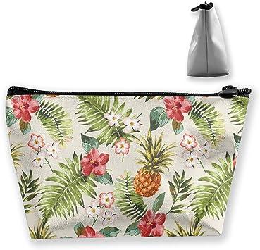 Estuche para lápices, diseño de piña Tropical, con Flores, Bolsa para cosméticos, Monedero de Viaje, Neceser de Playa: Amazon.es: Equipaje