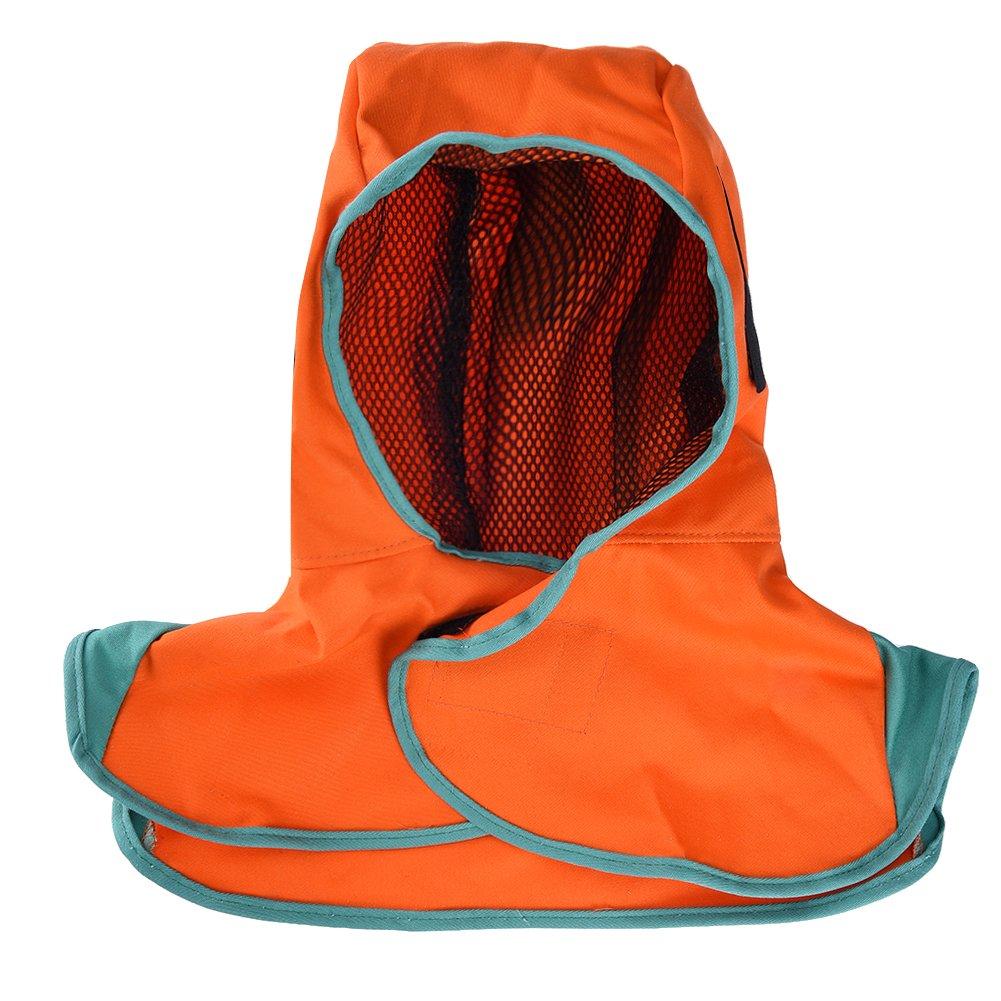 TOOLTOO Welding Hood with Neck Shoulder Drape - Flame-resistant Cotton Work with Helmet