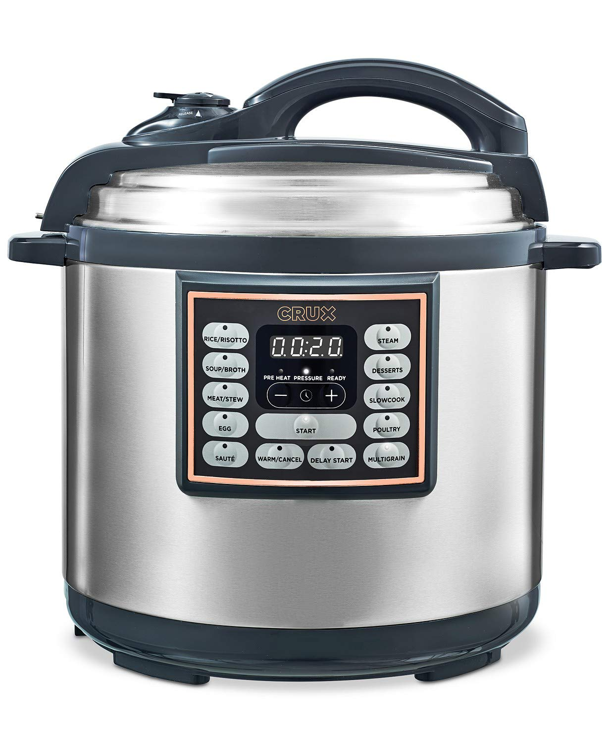 Crux 8-Qt. 10-In-1 Programmable Multi-Cooker