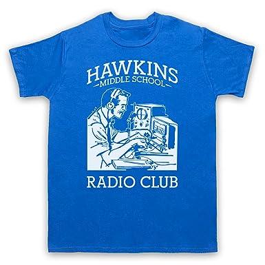 Stranger Things Hawkins Middle School Radio Club Herren T Shirt