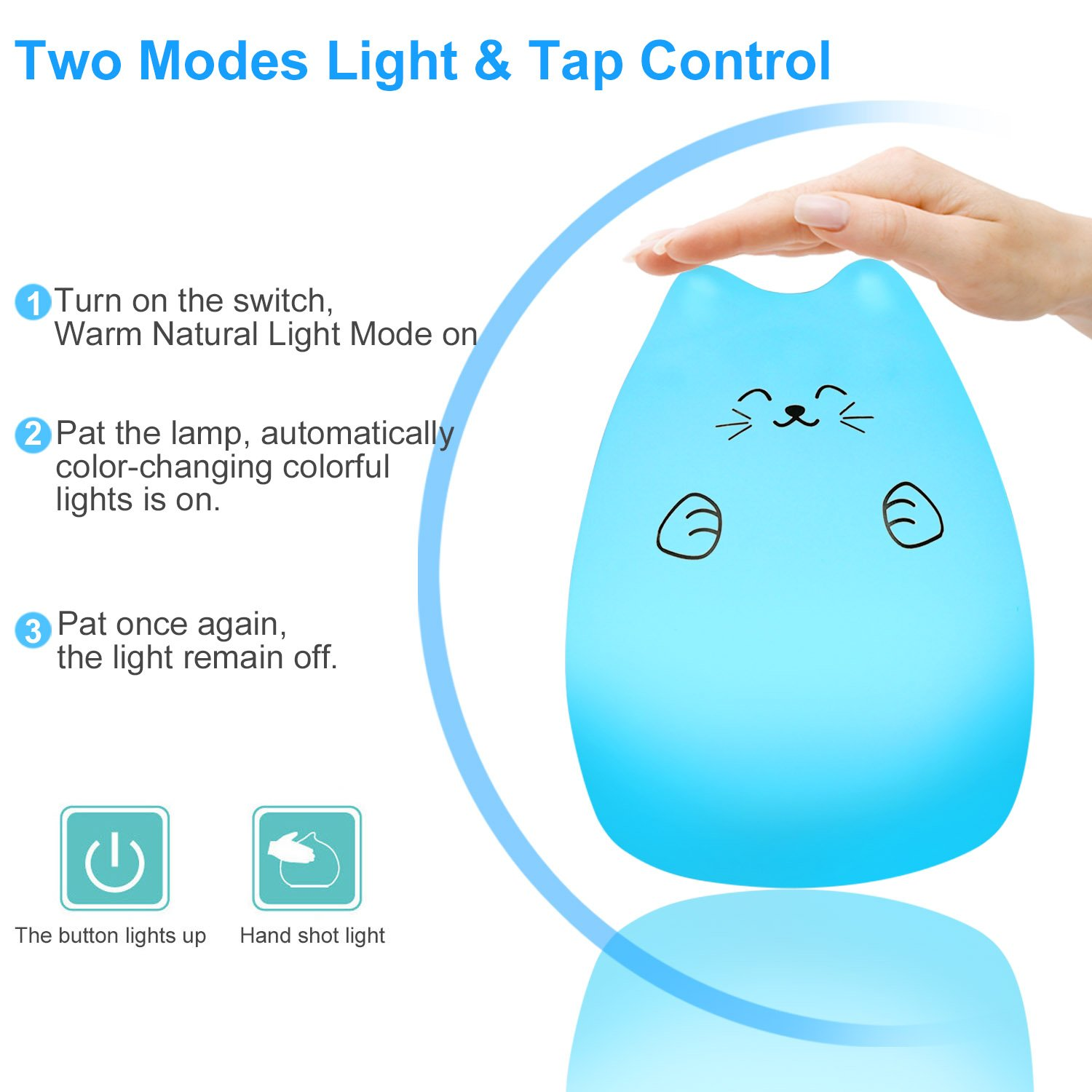 emdmak baby night light usb rechargeable silicone