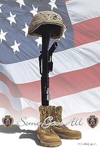Toland Home Garden Some Gave All 12.5 x 18 Inch Decorative Patriotic Veteran Military America USA Memorial July 4 Garden Flag