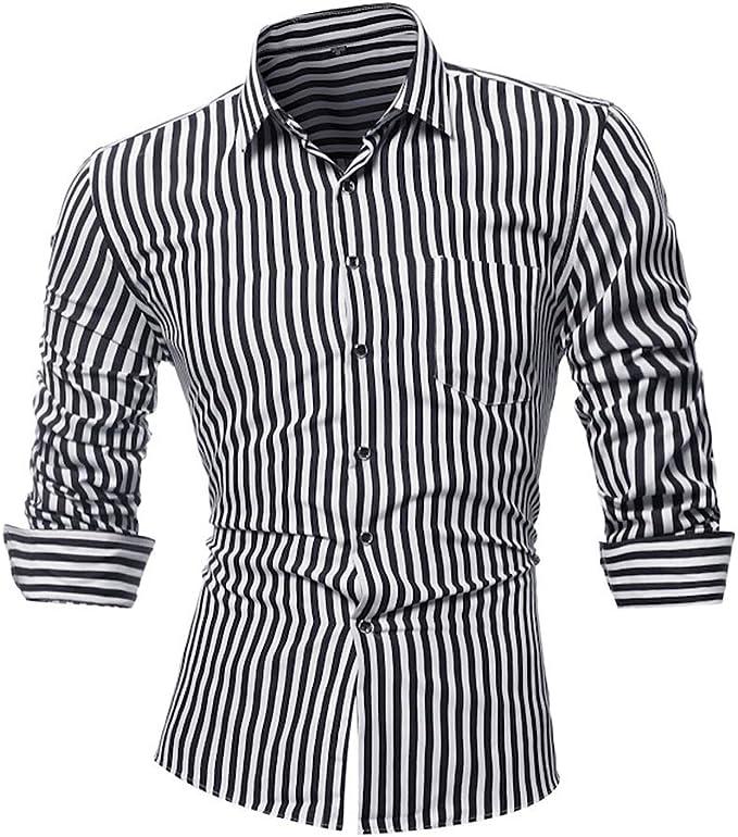 VENCANN Mens Casual Plaid Print Long Sleeve Fit Slim Shirt