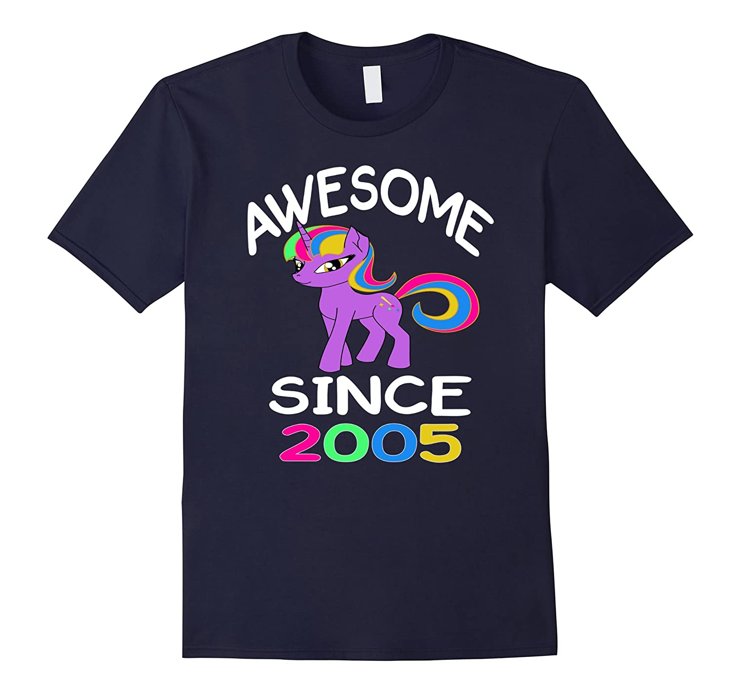 12th Birthday Gift Shirt For Girls Born In 2005 Unicorn Tee-CL