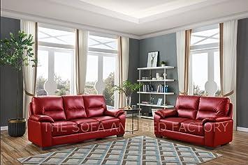 Astounding New Dalmore Red Leather 3 2 Cheap Sofa Set Suite Amazon Interior Design Ideas Oteneahmetsinanyavuzinfo