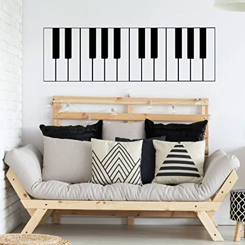 Amazoncom Piano Wall Art Keyboard Vinyl Wall Decal For