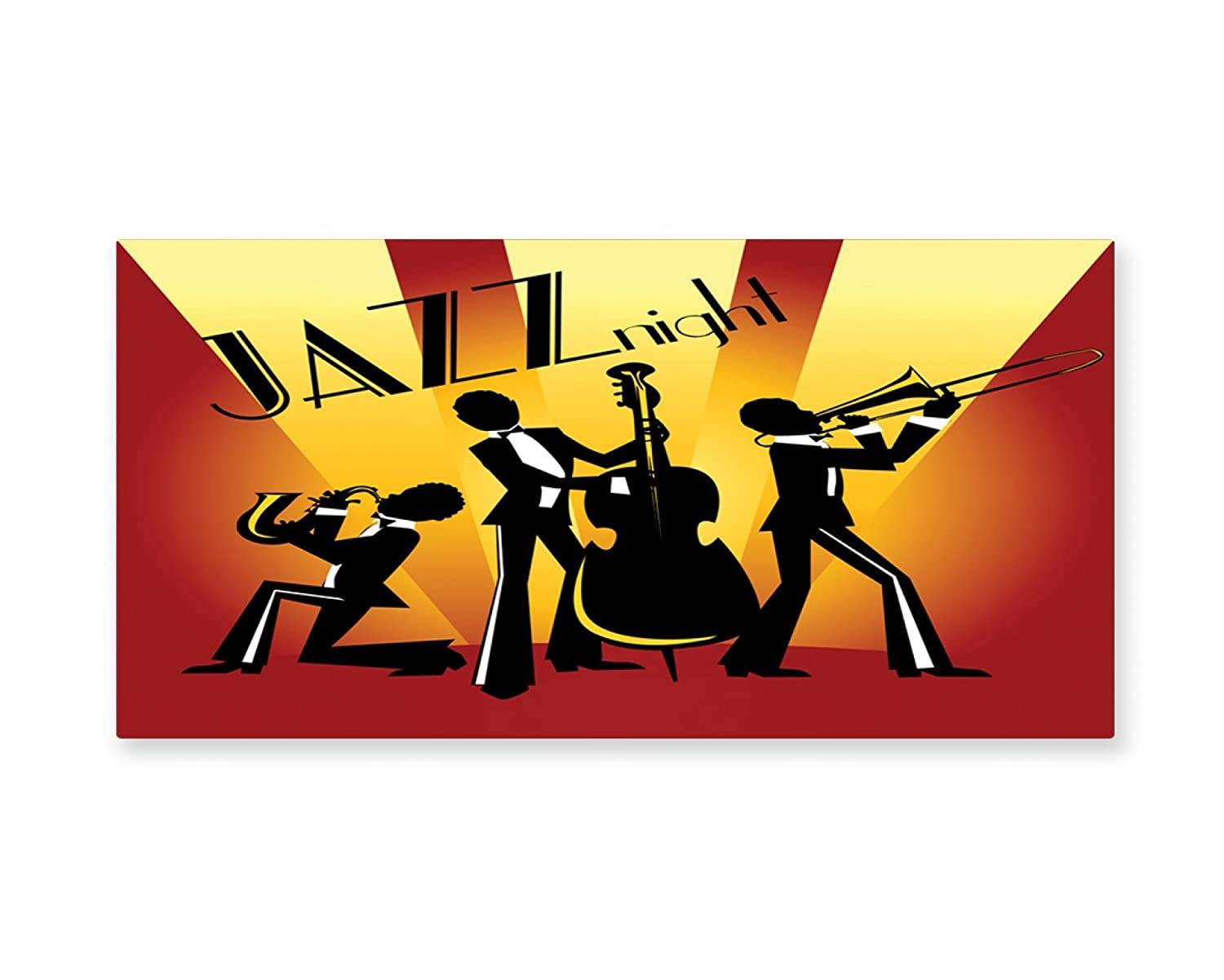 Amazon.com: Lunarable Music Wall Art, Jazz Party Band with Saxophone ...