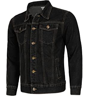 MENS DENIM JEAN JACKET Duke D555 Classic Western Style Trucker Jacket Coat New
