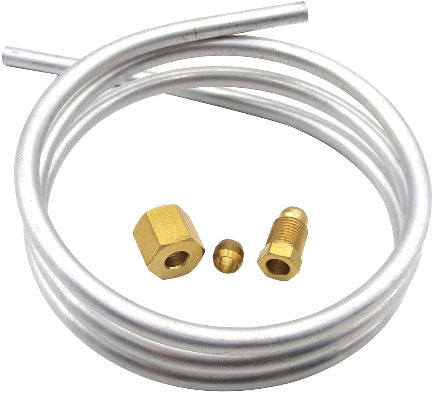 MENSI 1//4 Aluminum Tubing with Fittings M10x1 female and Male Length 1 meter