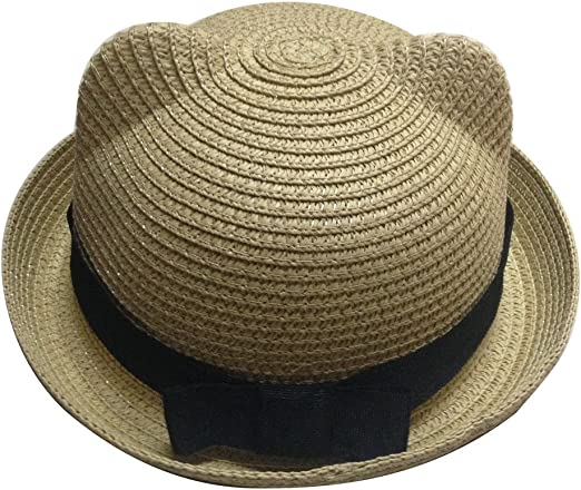 Jtc Kids Straw Cowboy Sun Hat Girls Caps Pink
