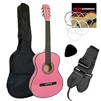 Jasmin Beginner 3/4 Size Classical Guitar Pack - Pink Guitar