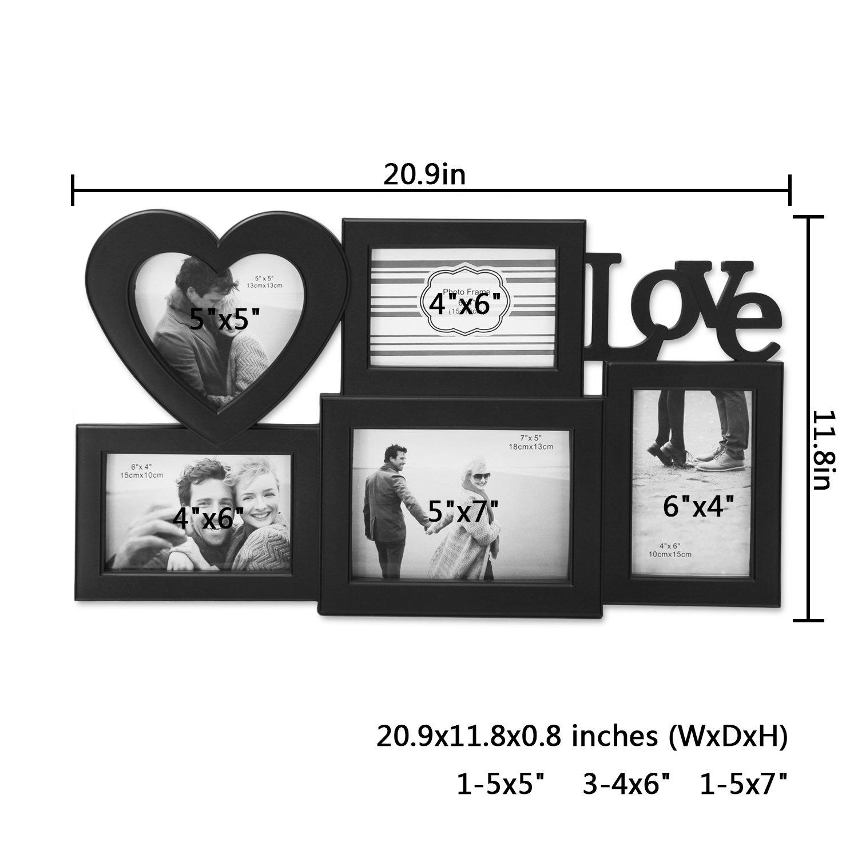 Großartig 8 Opening 4x6 Picture Frame Zeitgenössisch - Rahmen Ideen ...