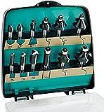 ENT Set de 12 fraises à défoncer livrées dans une valise en plastique Jaune Ø 8mm