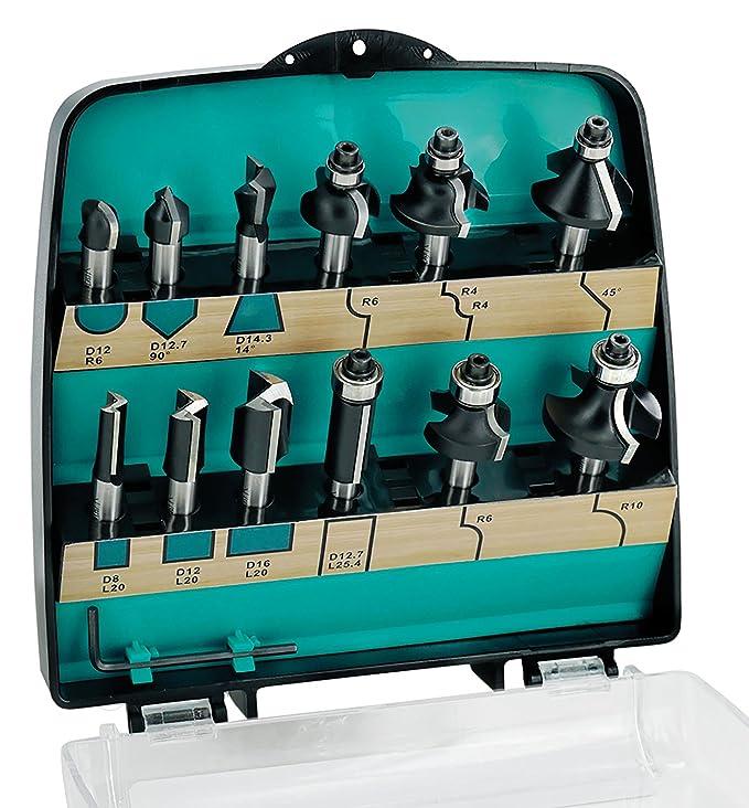 4 opinioni per ENT 09012 12 pezzi DURACUT HM set di frese in scatola di plastica a prova di