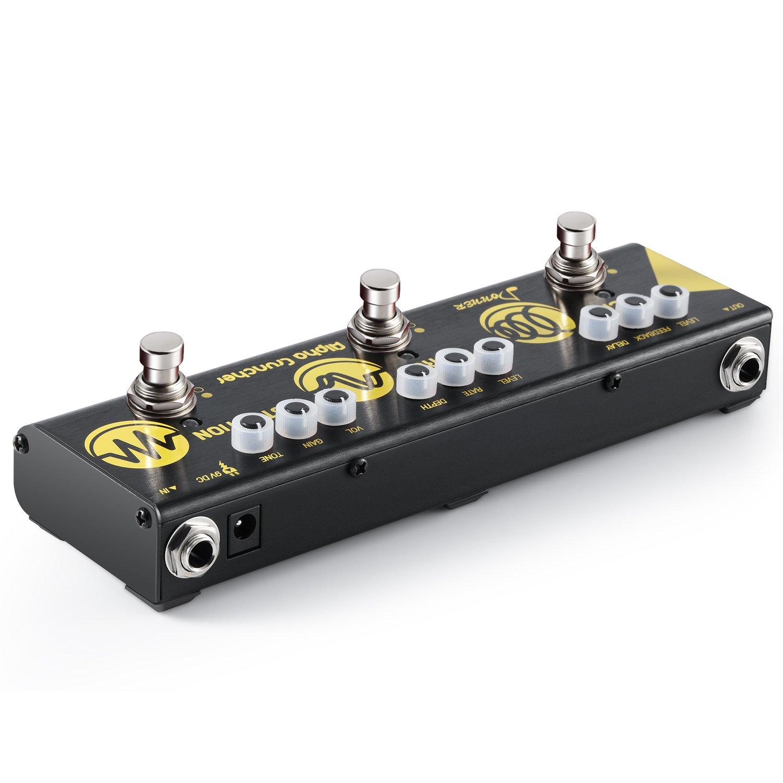 Donner Pedal Multiefectos para Guitarra Alpha Cruncher 3 Tipos Efectos Delay Chorus y Distortion en 1 Cadena con Adaptador: Amazon.es: Instrumentos ...
